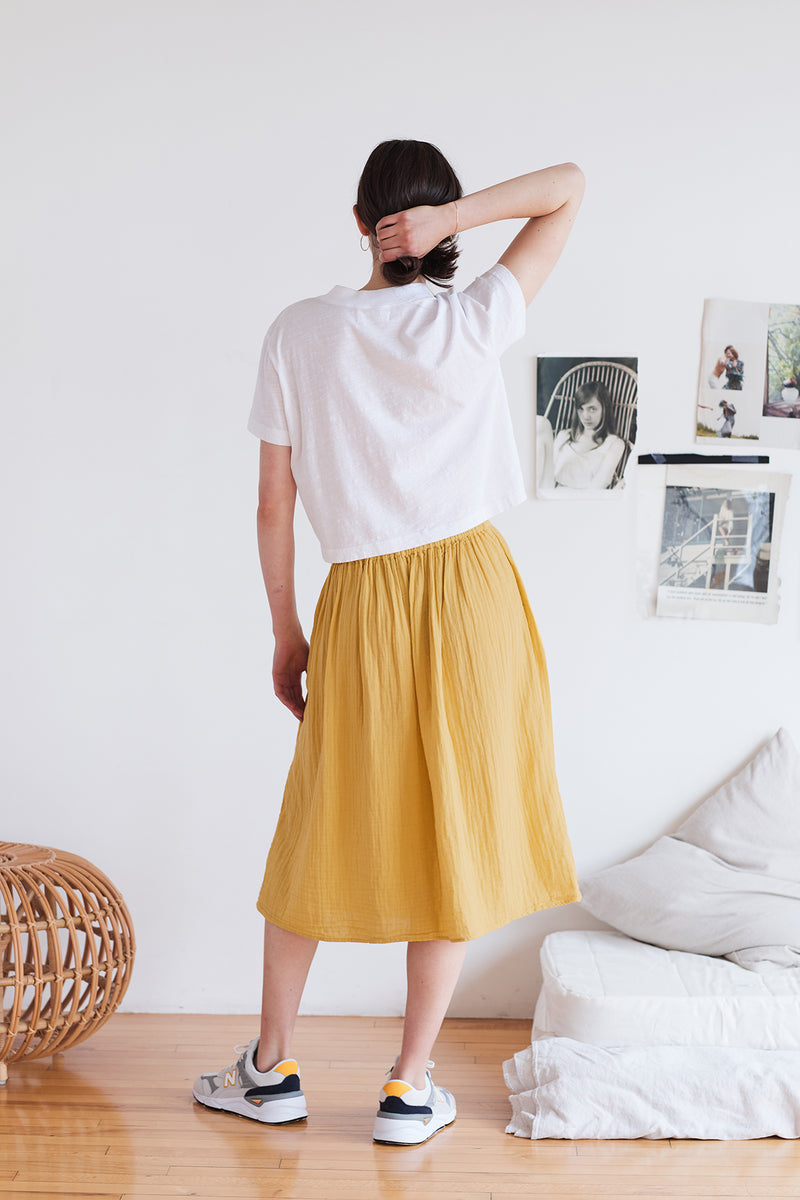 FALLON COTTON GAUZE SKIRT