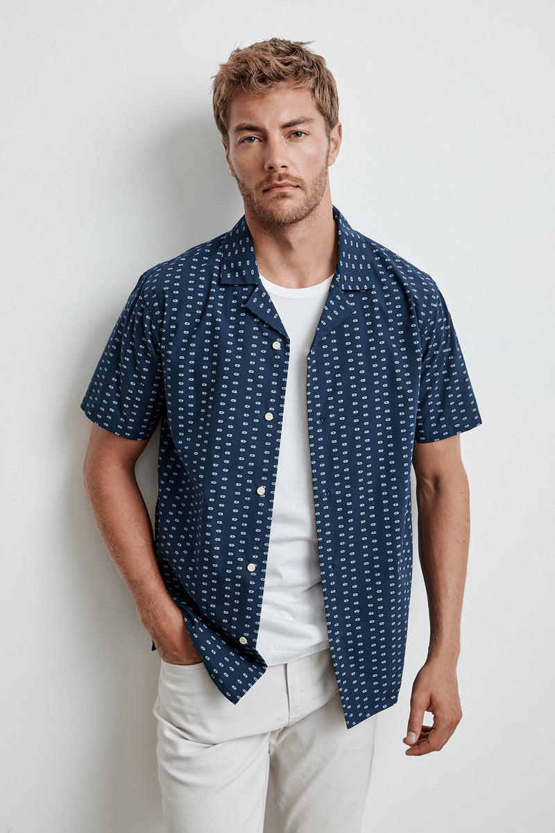 CISCO PRINTED BUTTON-UP SHIRT