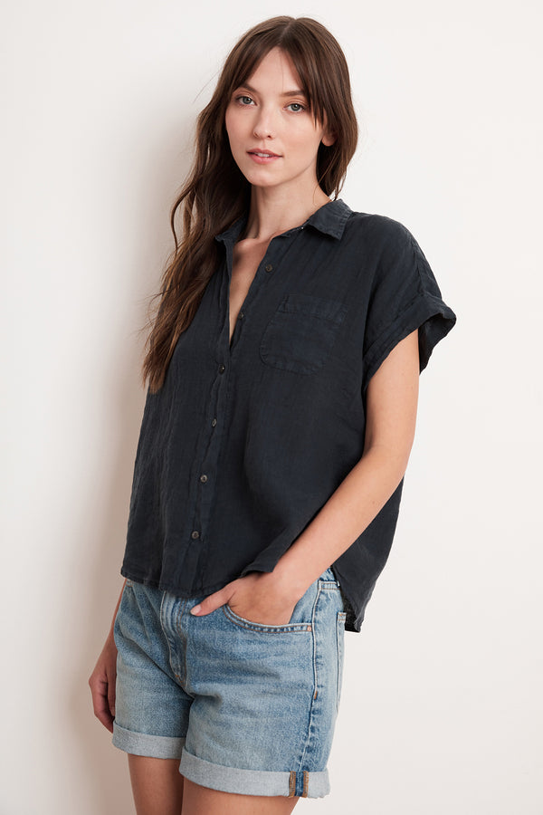 EMERSON LINEN BUTTON-UP SHIRT