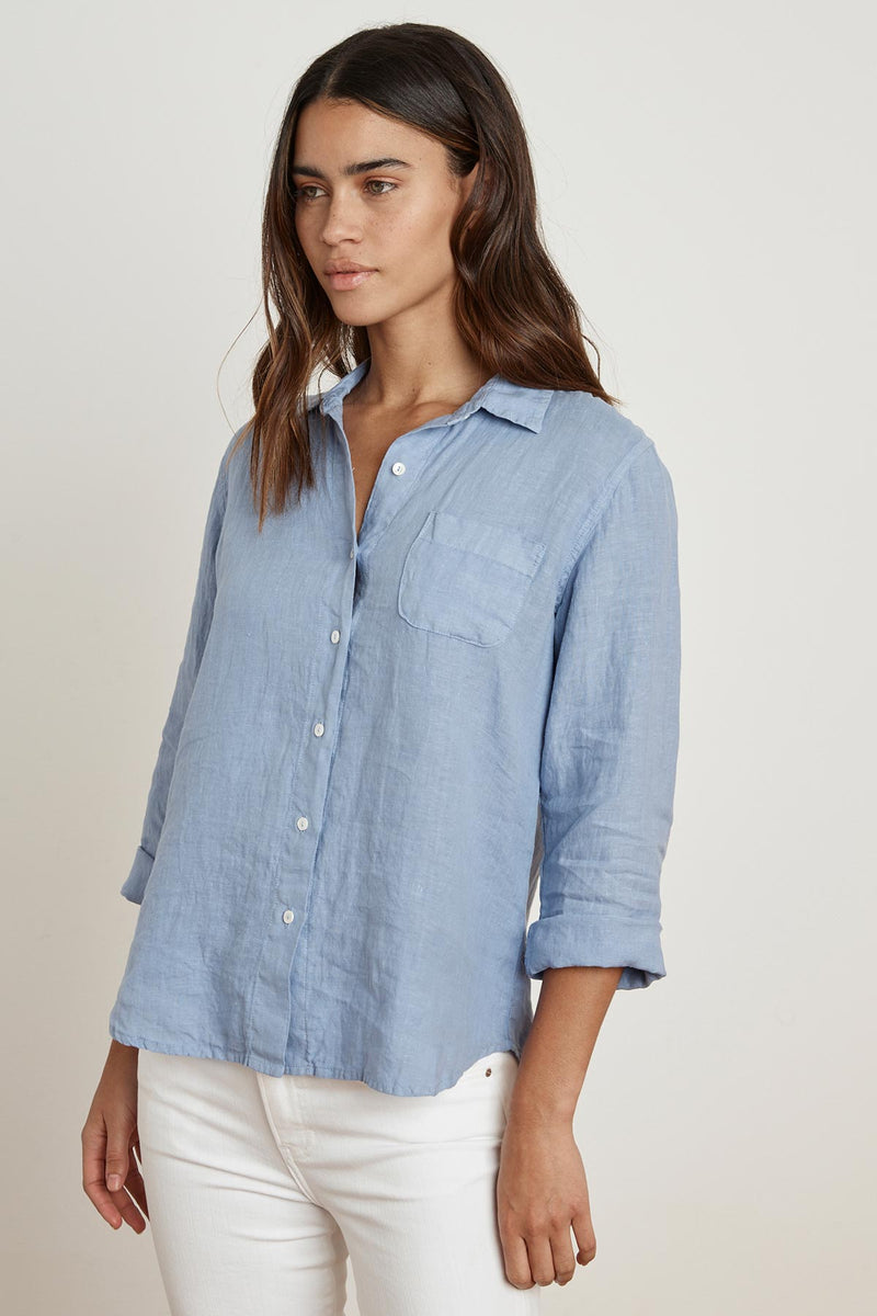 VERN WOVEN LINEN BUTTON UP SHIRT