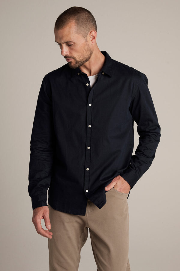 JONAH COTTON BUTTON-UP SHIRT
