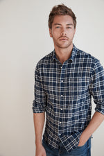 KENJY PLAID BUTTON-UP SHIRT