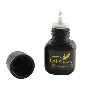 Lady Black Eyelash Extensions Glue with Cap Removed