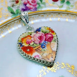 Custom Broken China Pendant Memorial Jewelry Unique Family Gift for Mom Sister In Remembrance Of