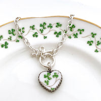 Broken China Jewelry Charm Bracelet 20th Anniversary Gift for Wife Irish Gifts for Women from Ireland