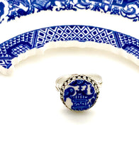 Broken China Jewelry Ring Blue Willow China Ring Japanese Jewelry