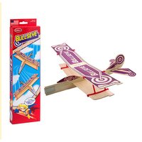 Channel Craft Guillow's Bullseye Balsa Wood Glider Bi-Plane Twin Pack (Made in USA)