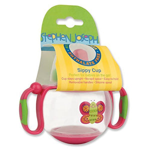 Stephen Joseph Sippy Cup, Butterfly Pink by Stephen Joseph