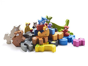 BeginAgain Animal Parade A-Z Puzzle - An Alphabet of Animals in a Wooden Puzzle! - Wooden Toy ABC Puzzle Game - Award Winning Educational Toy for Toddlers
