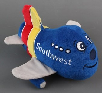 Daron Southwest Airlines Plush Toy Airplane with Sound by Daron
