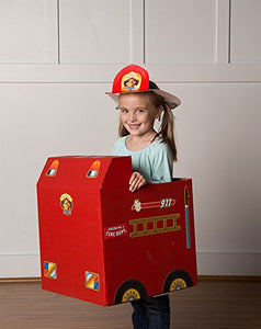 Paper Box Pilots - Cardboard Box Fire Engine Stickers
