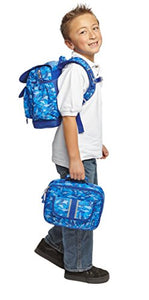 Bixbee Shark Camo Backpack, Camouflage Blue, Medium