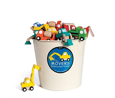 Jack Rabbit Creations Mini Mover Construction Trucks - Assorted Colors and Styles
