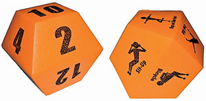 10-Sided Fitness Dice (pair)