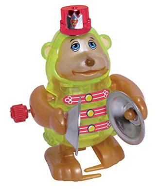 Monkey Wind Up Toy - Monkey Claps Cymbals And Walks In Circles - Unique Windup Features - 3 Inches Tall