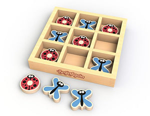 BeginAgain TicBugToe - Tic Tac Toe Travel Game for Kids of All Ages - Dragonflies & Ladybugs Will Delight in this Traveling Game