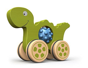 BeginAgain Nubble Rumblers - Dino Toy - Wooden Toy Dinosaur For Toddlers and Up - Push Toy For Tactile Play And Fine Motor Skill Development - Safe and by BeginAgain