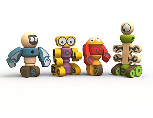 BeginAgain Tinker Totter Robots Build Your Own Robot Kit & Robot Building Set