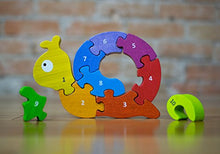 BeginAgain Number Snail Puzzle – Best-Selling Educational Toy for Toddlers – Puzzle Game + Wooden Toy for a Natural Home or Classroom!