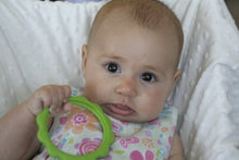 BeginAgain Green Ring Teether, Made in the USA - Washable, Natural, Eco-Friendly Baby Toy + Teether Toy for 6-12 months