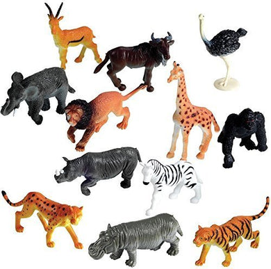 Learning Resources Jungle Animals Set of 60- Toy Figure Playset- Five Each of 12 Different Species- 2 inch- 3 inch- Play Props, Enhancing Vocabulary and Language Skills Through Imaginative Play