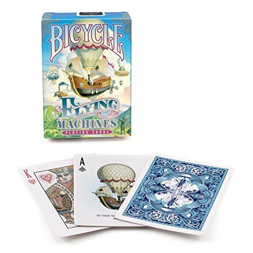 2 Decks Bicycle Flying Machines Standard Poker Playing Cards by Bicycle
