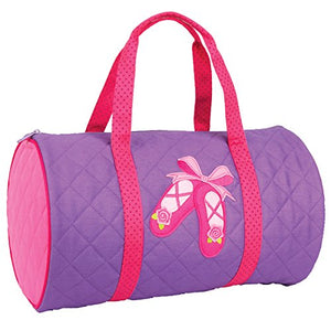 Stephen Joseph Quilted Duffle Bag - Ballet Shoes