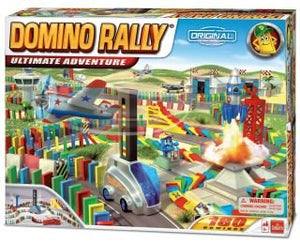 Domino Rally Ultimate Adventure Set With 180 Dominos And 4 Props