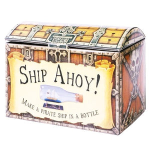 New Make Pirate Ship in a Bottle Craft Set Wooden Pieces Glue With Book Hom A Great Little Craft Kit For Ages 8+