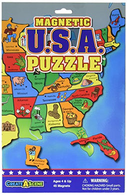 Create-A-Scene Magnetic Playset - USA Puzzles