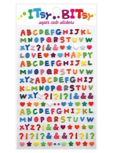 Patterned Alphabet Stickers by Itsy Bitsy
