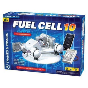 Thames and Kosmos Fuel Cell 10 Car and Experiment Kit - White - Electronic Experimental Kit - Boy/Girl Toy - Science, Teaching Aid - Multiple Levels of Play - Solar-powered - 1 Year Manufacturer Total Replacement Warranty - Christmas Gift Toys