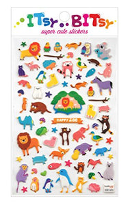 Happy Zoo Stickers by Itsy Bitsy