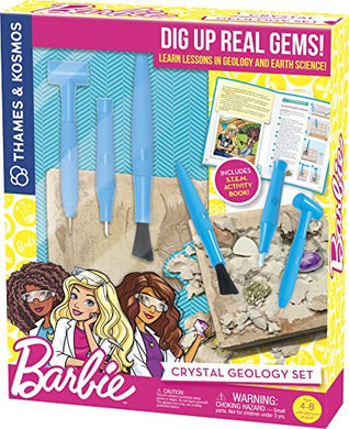 Thames & Kosmos Barbie Crystal Geology Science Kit
