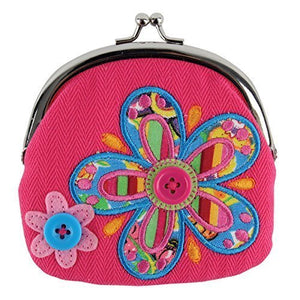 Stephen Joseph Flower Signature Coin Plush Purse, Model: SJ105445A, Toys & Play