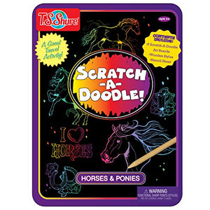 T.S. Shure Scratch-a-Doodle Horses & Ponies Activity Tin