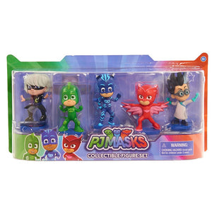 PJ Masks - COLLECTIBLE FIGURE SET 5-Pack - This Deluxe Pack of PJ Masks 3 inch Figures Features Catboy, Owlette, Gekko, Luna Girl and Romeo in Dynamic Action Poses. Perfect for Play and Display!
