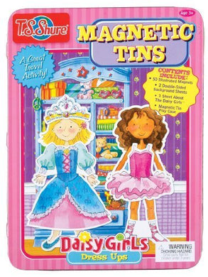 T.S. Shure Daisy Girls Magnetic Tin Playset, Model: 4063, Toys & Play