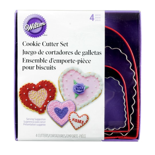COOKIE CUTTER - VALENTINE - FROM THE HEART 4 PC HEART CUTTERS