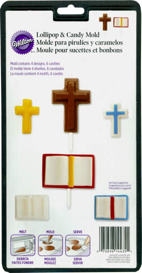 MOLDS - RELIGION - CROSS AND BIBLE