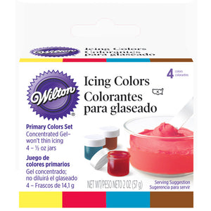 WILTON GEL ICING COLOURS - 4 PRIMARYCOLOUR 