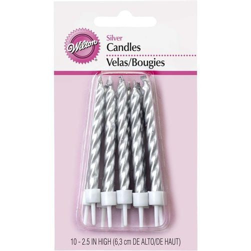 CANDLES - SILVER