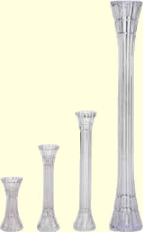 PILLARS - CRYSTAL - 13.75""
