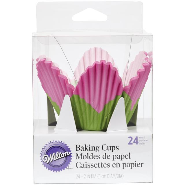 CUPCAKE PAPERS - SPECIALTY - PETAL CUPS - PINK