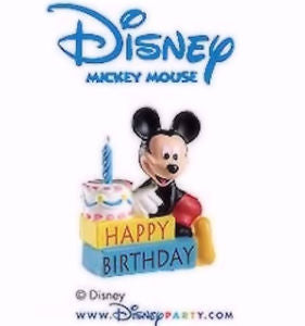 CANDLES - MICKEY MOUSE - HAPPY BIRTHDAY