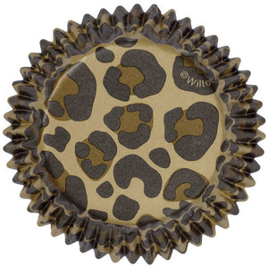 CUPCAKE PAPERS - STANDARD - LEOPARD