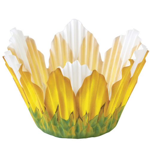 CUPCAKE PAPERS - SPECIALTY - SHAPED CUPS - SUNFLOWER