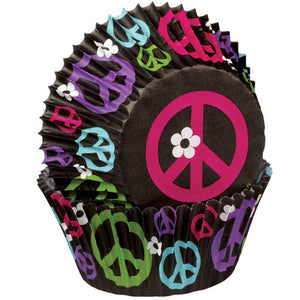 CUPCAKE PAPERS - STANDARD - PEACE SIGN