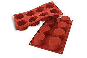PAN - SILICONE MOULD - PETITE FOUR - 8 CAVITY