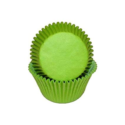 CUPCAKE PAPERS - GLASSINE - STANDARD - LIME GREEN